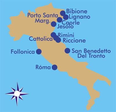 Olasz Tengerpart Terkep Marlpoint