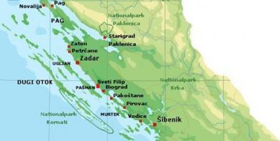 Horvatorszag Zadar Terkep Marlpoint